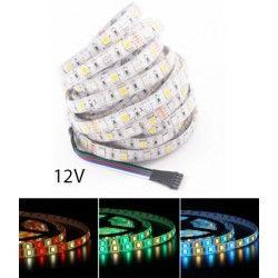 LED Strips 12W/m RGB+WW LED strip - 5m, IP65, 60 LED pr. meter, 12V