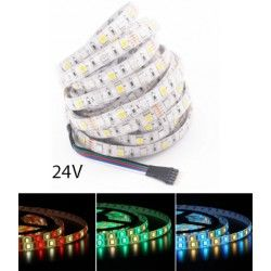 LED Strips 12W/m RGB+WW LED strip - 5 meter, IP65, 60 LED pr. meter, 24V