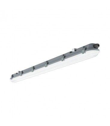 V-Tac vandtæt 48W komplet LED armatur - 150 cm, IP65, 120lm/W, Gennemfortrådet, 230V