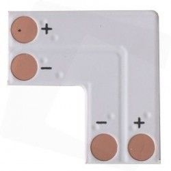24V L-mellemled til enkelt farvet LED strips - Til 3528 strips (8mm bred), 12V / 24V