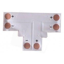 24V T-mellemled til enkelt farvet LED strips - Til 3528 strips (8mm bred), 12V / 24V
