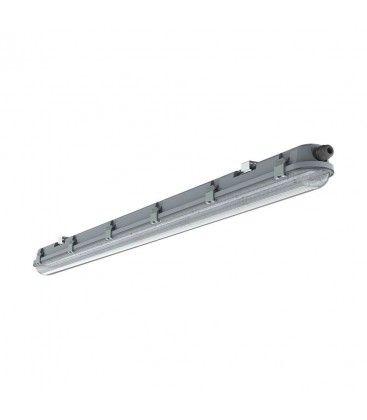 V-Tac vandtæt 18W komplet LED armatur - 60 cm, IP65, IK06, gennemfortrådet, 230V