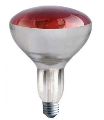 Rød E27 250W infrarød glødetrådpære - Rød varmepære, R125