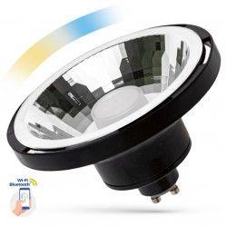 Smart Home pærer 10W Sort Smart Home LED spot - Virker med Google Home, Alexa og smartphones, GU10 AR111
