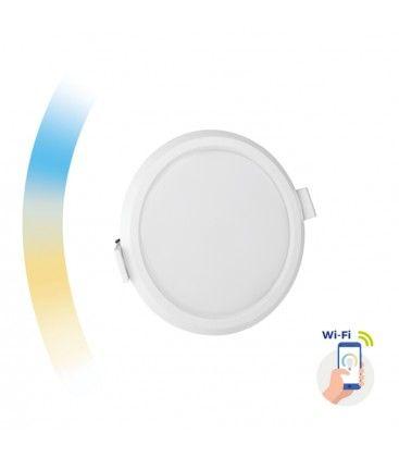 6W Smart home LED indbygningspanel - Google Home og app, hul: Ø10,5 cm, Mål: Ø11,2 cm, 230V