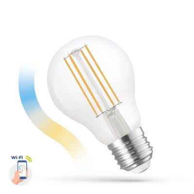 5W Smart Home LED pære - Virker med Google Home, Alexa og smartphones, E27, A60 - Dæmpbar : Via Smart Home, Kulør : Fra varm til kold