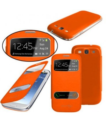 Samsung Galaxy S3 mini Flip Cover med vindue.