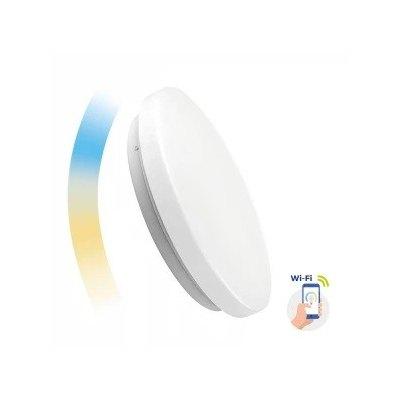 36W Smart Home rund LED loftslampe - Virker med Google Home, Alexa og smartphones, Ø48,8cm, 230V - Dæmpbar : Via Smart Home, Kulør : Fra varm til kold