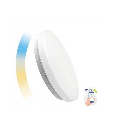 24W Smart Home rund LED loftslampe - Virker med Google Home, Alexa og smartphones, Ø39cm, 230V