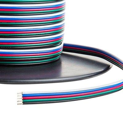 Billede af 12-24V RGB+W kabel - 5 x 0,5 mm², metervare, min. 5 meter