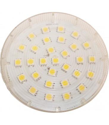 GX53 Varm hvid, 4.5w, 230V, 400 Lumen