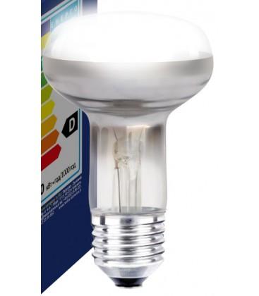 Klar E27 60W projektør glødetrådspære - Traditionel pære, 400lm, dæmpbar, R63