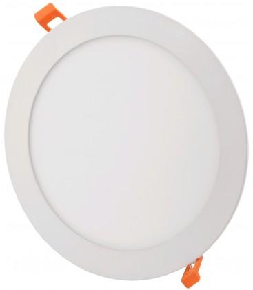 12W LED indbygningspanel - Hul: Ø15,2 cm, Mål: Ø17 cm, 230V