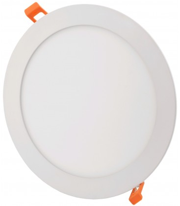 18W LED indbygningspanel - Hul: Ø20,2 cm, Mål: Ø22 cm, 230V