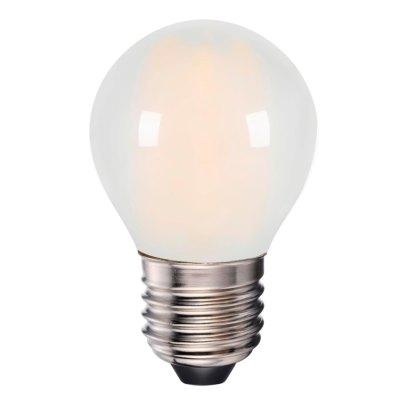 4W LED pære - 3-trin dæmpbar, on/off dæmpbar, matteret glas, 230V, E27 - Dæmpbar : Dæmpbar, Kulør : Varm