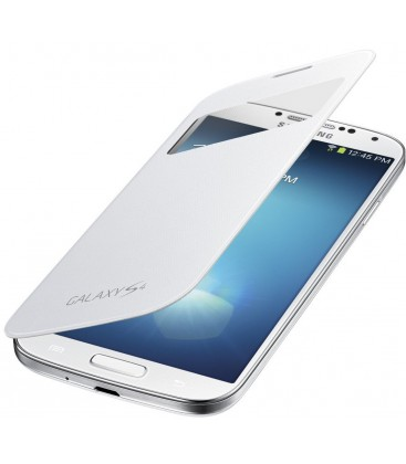 Samsung Galaxy S4, Flip Cover med S-View. Hvid