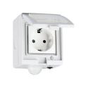 V-Tac Smart Home vandtæt Wifi stikkontakt - Virker med Google Home, Alexa og smartphones, 230V