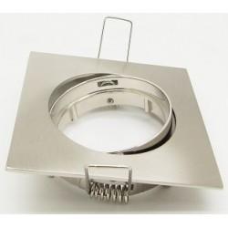 Downlight kit uden lyskilde - Hul: 7-8 cm, Mål: 8,3 x 8,3 cm, børstet lakeret nikkel, Inkl. fatning til GU10 eller MR16