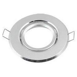 Downlight kit uden lyskilde - Hul: Ø7-8 cm, Mål Ø8,5 cm, børstet aluminium, Inkl. fatning til GU10 eller MR16