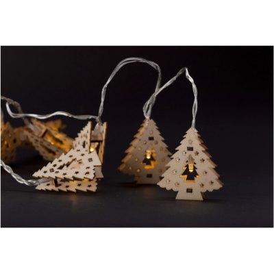 165 cm varm hvid træ juletræ julelyskæde - 10 LED, indendørs, batteri