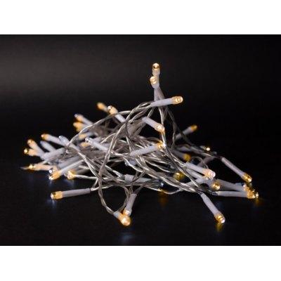 1 m. varm hvid LED julelyskæde - 10 LED, indendørs, batteri