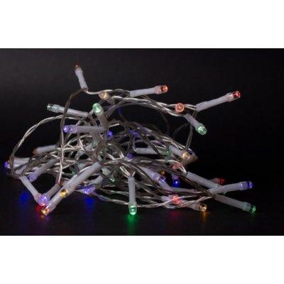 2 m. multicolor LED julelyskæde - 20 LED, indendørs, batteri