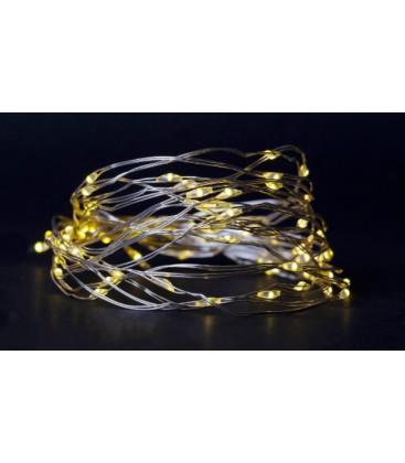 4 m. varm hvid LED julelyskæde - 80 LED, indendørs, batteri
