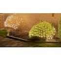 2 x 1,5 m. varm hvid LED julelyskædenet - 160 LED, IP44 udendørs, 230V