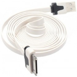 Iphone4.cable.2m: Iphone kabel 2 meter, til IPhone 4