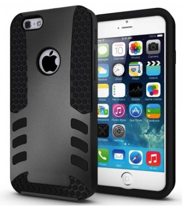 Iphone 6, cover, SPIGEN Tough Armor. Grå, hvid eller blå.