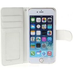 Iphone 5 etui i hvid med kreditkort holder