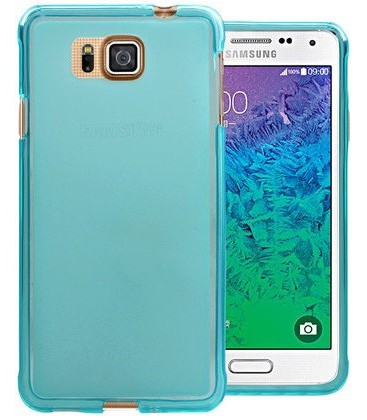 Samsung Galaxy Alpha, Frosted Transparent Silicone Case. Flere farver.