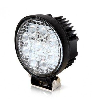 27W LED arbejdslampe - Bil, lastbil, traktor, trailer, udrykningskøretøjer, kold hvid, 12V / 24V