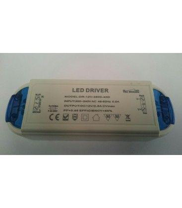 Strømforsyning dæmpbar - 30W, 12v DC, perfekt til MR16, MR11, G4 og LED strip