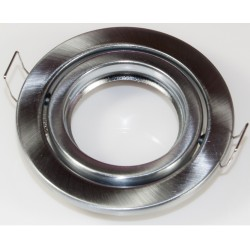 Downlight.kit.nikkel: Downlight kit uden lyskilde - Hul: Ø6-8 cm, Mål: Ø8,8 cm, Børstet lakeret nikkel, Inkl. fatning til GU10 eller MR16