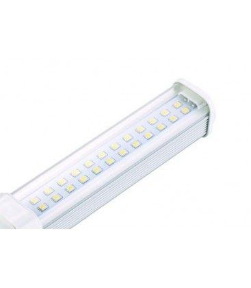G24Q LED pære, 230v, 7w, klart glas, Varm hvid