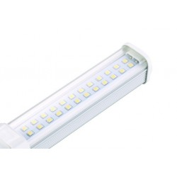 G24Q LED pære - 11w, 120 grader, varm hvid, klart glas