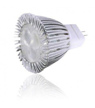 LEDlife HELO3 LED pære - 3W, dæmpbar, varm hvid, 35mm, 12V, MR11/GU4