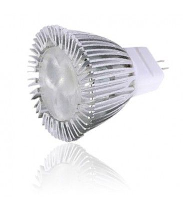 MR11/GU4 sokkel Varm hvid 3 LED spot, 35mm, 3W, 12V, Dæmpbar, 260 Lumen