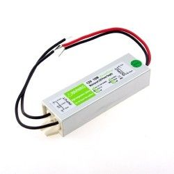 12V IP68 (Vandtæt) 10W strømforsyning - 12V DC, 0,8A, IP67 vandtæt