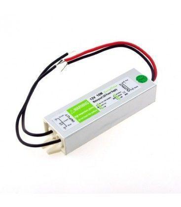10W strømforsyning - 12V DC, 0,8A, IP67 vandtæt