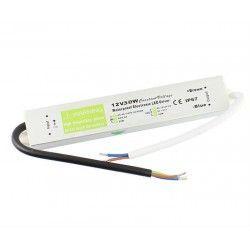 12V IP68 (Vandtæt) 30W strømforsyning - 12V DC, 2,4A, IP67 vandtæt