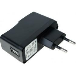 USB lader - perfekt til højttalere eller mobiltelefoner 2A, Sort