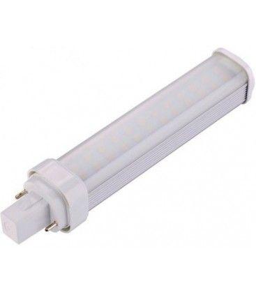 G24D LED pære, 230v, 7w, materet glas, Varm hvid