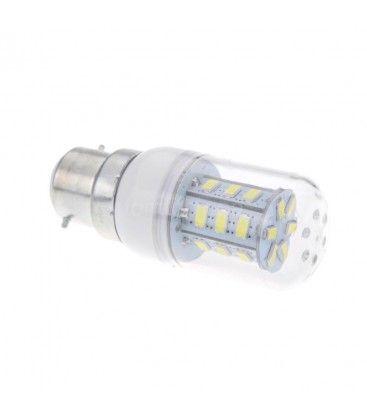 B22 Varm hvid LED, 6W, 230V, 1100 lumens