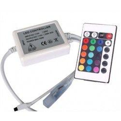 RGB.remote.230v: RGB kontroller med fjernbetjening - 230V, memory funktion, infrarød