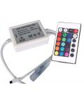 RGB kontroller med fjernbetjening - Inkl. endeprop, 230V, memory funktion, infrarød