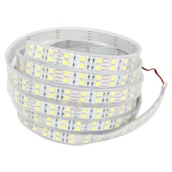 19,2W/m varm hvid dobbelt række LED strip - 5m, 120 LED pr. meter