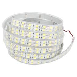 25w varm hvid dobbelt række LED strip - 5m, 120 LED, 25w pr. meter!