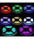 V-Tac 4,8w RGB stænktæt LED strip - 5m, 30 LED pr. meter
